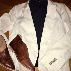 Ann Taylor white blazer size 10
